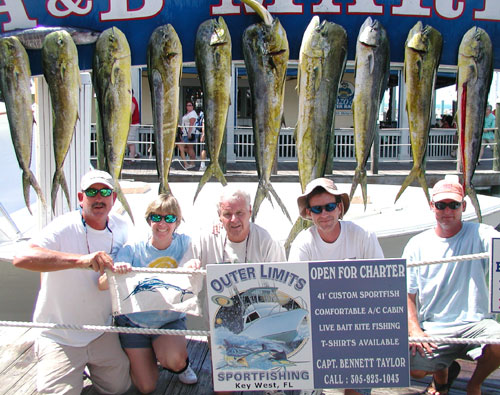 John Butler and familiy have a banner day of fishing in Key West on the Outer Limits.